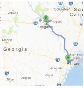 AUGUSTA TO SAVANNAH HIGHWAY SHELVED